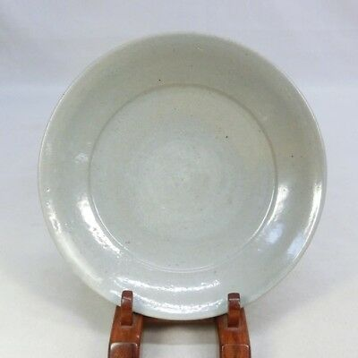 D145: REAL old Korean Joseon-Dynasty pottery plate with appropriate tone.