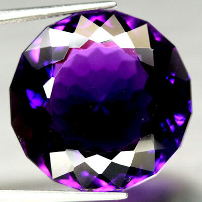 29.51 CT AAA! 21 mm. PURPLE CLR CHANGE TO PINK BRAZILIAN AMETHYST ROUND