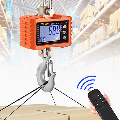 Hanging Scale,Klau 1000 kg 2000 lb Digital Industrial Heavy Duty Crane