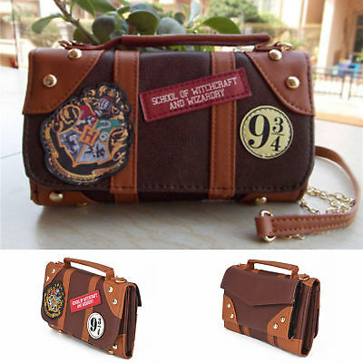 Hogwarts Harry Potter Wallet Messenge Bag PU School Badge Crossbody Clutch Purse