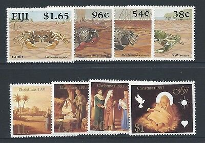 1991 Fiji 2x sets (8 stamps) Mint Hinged