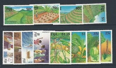 1990 Fiji 3x sets (12 stamps) Mint Hinged
