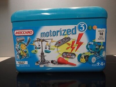 Meccano Construction set Motorized 3 (10 models) with box #760262 Berowra 2081