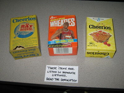 cereal box single serve (1 item) Michael Jordan WHEATIES 1980s,full