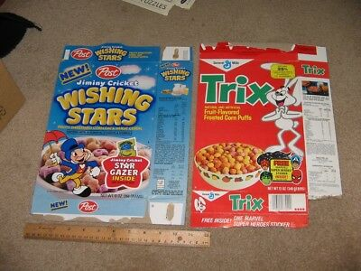cereal box TRIX 1980 Spiderman Capt America Hulk Marvel comics trading card