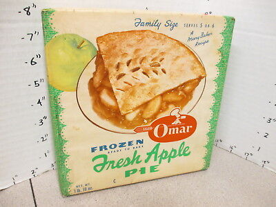 OMAR TV DINNER 1950s Mary Baker apple pie vintage frozen food box wax wrap