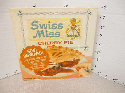 SWISS MISS ad character TV DINNER 1960s cherry pie vintage frozen food box
