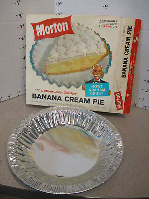 TV DINNER 1960s BANANA CREAM PIE Old Kentucky vintage frozen food + tray