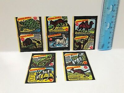 Vintage Anglo Bell Boy Chewing Gum Animal World Wax Wrapper Inserts England No 2