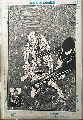 Amazing Spiderman 258 Cover, Original Art Recreation, Ron Frenz & Joe Rubinstein