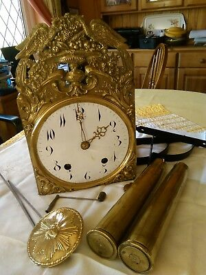 french comtoise 8 day wall clock