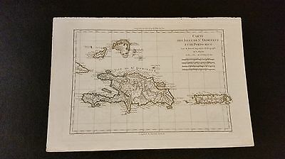 1782 Map of St. Dominique/Porto Rico