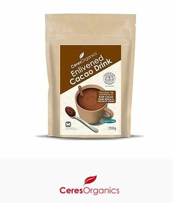 2 x 250g CERES ORGANICS Organic Enlivened Cacao Drink 500g