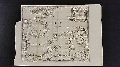 1763 Map of France, Spain & Portugal
