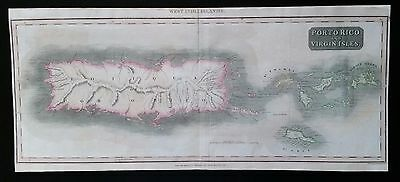 1815 Map of Porto Rico & Virgin Isles