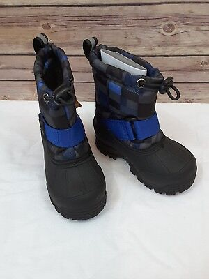 5a422f46faf5 NORTHSIDE FROSTY BLACK BLUE Winter Snow Boots Shoes Size 5 Toddler ...