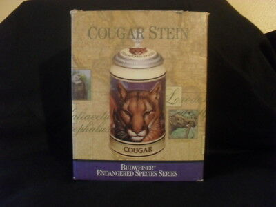 Budweiser Endangered Species Series Cougar Stein *new*
