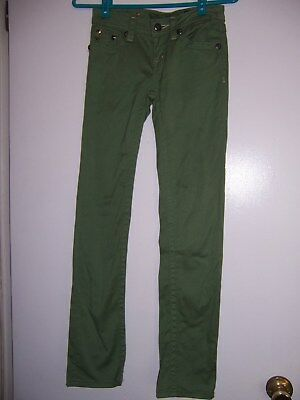 Miss Me Girls Skinny Jeans OLIVE GREEN Size 14 NWOT NEW RETAIL $ 83.99
