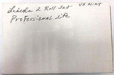 SEALED BOX LP3 2009 Lincoln Professional Life Cent P & D Mint Roll -