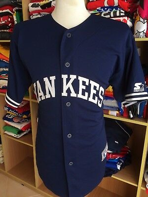 Vintage Baseball Trikot New York Yankees (L) Starter MLB Jersey Shirt