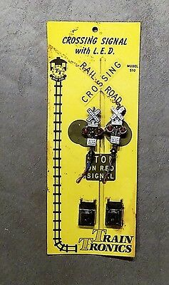 Train Tronics Crossing Signal w/ L.E.D. 510 NIP