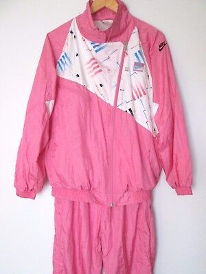 261b6757 Nike Challenge Court Vintage Full Shell Suit Retro Tracksuit Size Approx M  - L