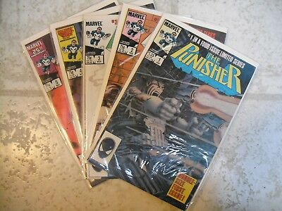 The Punisher #1-5 (Jan 1986, Marvel) NM limited issue series