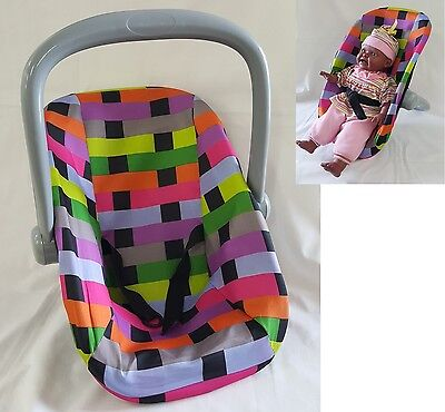 LATTICE BABY DOLL 2 POSITIONS BASKET CARRIER pretend play accessories toy gift