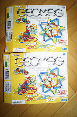 original Geomag 2 mal Multi Color 70 mit OVP Komplett -also 140 Teile Swiss made