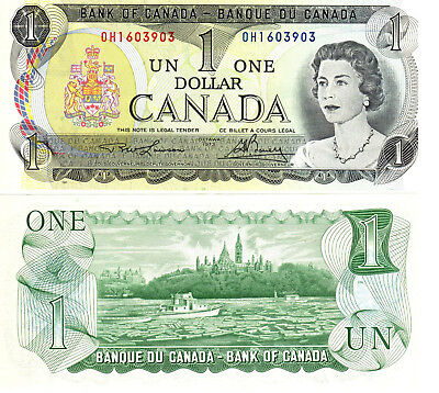 1973 Canada $1 Banknote – Lawson/Bouey IBNS-UNC