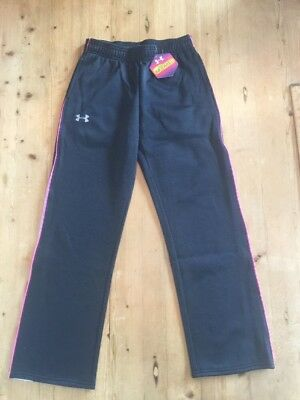 NEW Girls Under Armour Cold Gear Infrared Sweat Pants Black Youth Medium YMD NWT