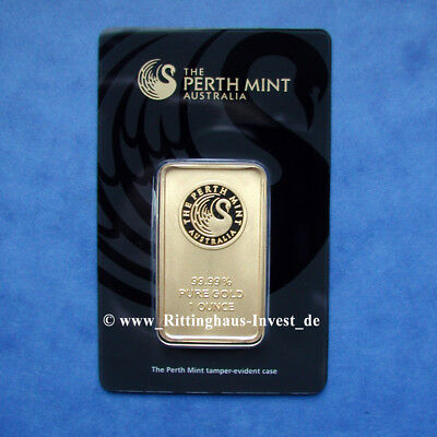 Goldbarren 1oz 1 Unze Feingold Perth Mint Kangaroo Blister Känguru Gold 99,99
