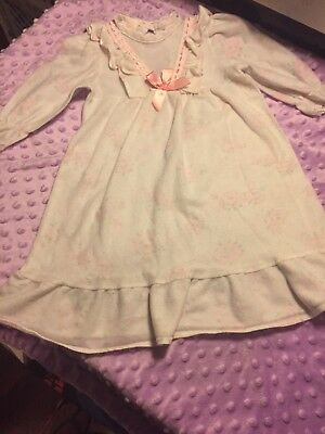 Vintage Girls Floral Ruffled Nightgown Cassie Made In USA Sz 2T Roses Lace