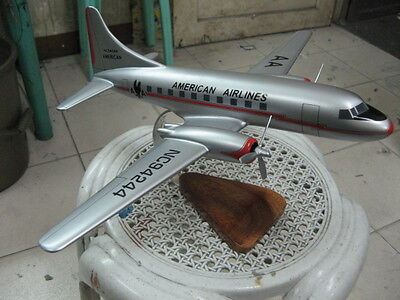 cv 990 american airlines airplane handcrafted mahogany kiln wood