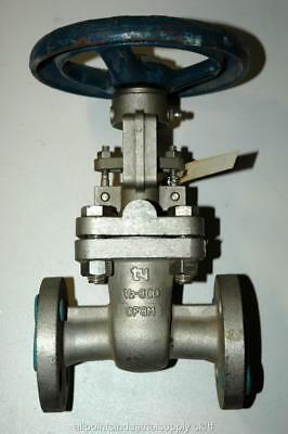 """1/2"""" Ty 300 lb CF8M Stainless Steel Flanged Shut-Off Gate Valve 201RF0910 - NOS"""