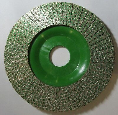 "NEW KGS HYBRID DIAMOND FLAP DISC 4-1/2"" x 7/8"" FOR GLASS 60-GRIT GREEN GN-60-SG"