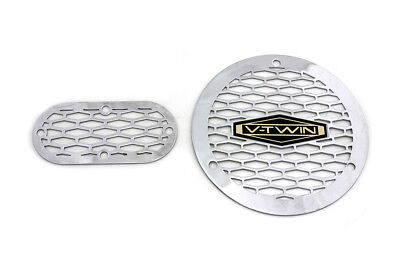Vented Primary Derby And Inspection Cover Kit For Harley-Davidson 1970-1998