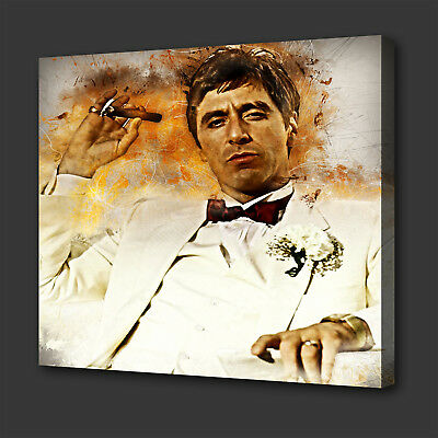 7fd9d721d74 Scarface Tony Montana Iconic Film Grunge Style Wall Art Picture Canvas Print