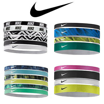 Nike Women Swoosh Sports Headbands Assorted 6 Pack & 4 Pack - Variety of Colors