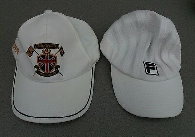 Mens Fila Cap Lonsdale London White One Size Great Britain GBR Stratford Cap x2
