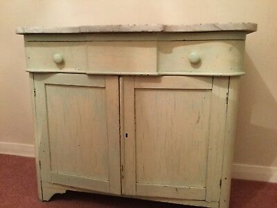 Marble topped painted kitchen cupboard