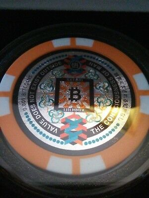 SATORI Physical Bitcoin Chip Fully Funded BTC BCH .001 Like Casascius Lealana