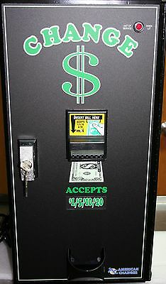 American Changer - AC2001 Bill Changer - Many extra options! Must see!!!