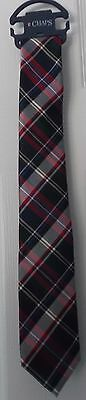Boys' Chaps Plaid Tie - Red, Navy Blue, & White - New With Tag