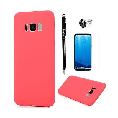 Badalink S8 Case with Dust Plug & Stylus & Screen Protector Candy Color Anti-...