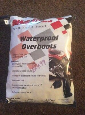Waterproof Over boots  Motorcycle Size XL Extra Commuter Winter Rain Water Proof