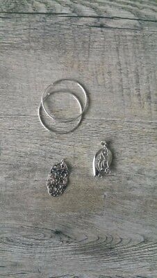 Bulk Jewellery Sterling Silver 925 Earrings Hoops and 2 x Pendants  NEW
