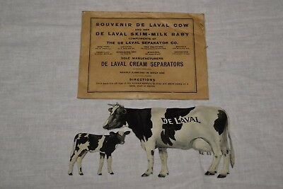 Antique De Laval Tin Dairy Cow & Calf Advertising Cream Separator Nice Shape