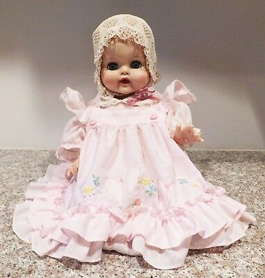"Vintage 1960's 20"" Drink & Wet Baby Doll Redressed Cute Good Facial  Color"