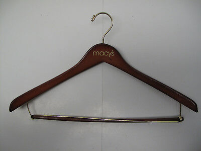MACYS macy's Suit Wood Hanger Brass and Pants Bar Quantity Available